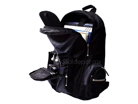TechZone-Mochila-Backpack-TZBTS303-para Laptop-poliester-correas acolchonadas-compartimientos-imagen-destacada-3