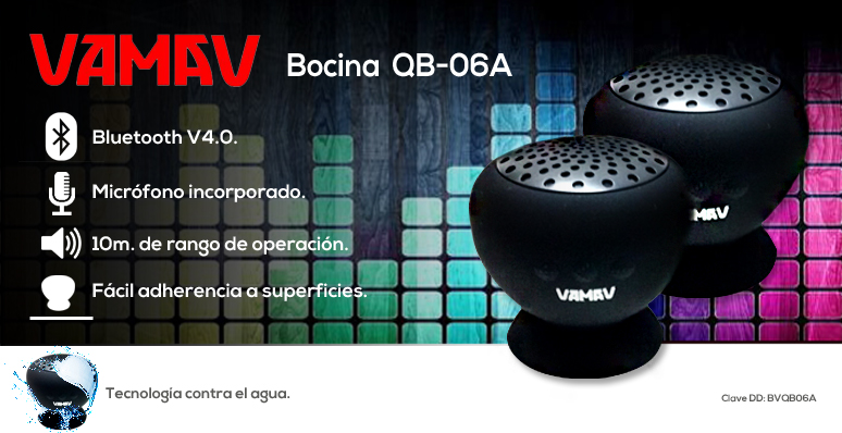 VAMAV-Bocina-QV-06A-inalambrica-conexion bluetooth