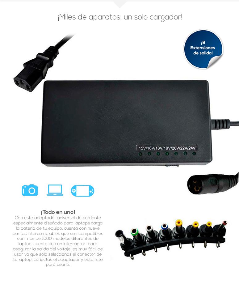 Vamav-Cargador Universal-para Laptop-Indicador Led-9 puntas intercambiables-compatible con más de 1000 modelos-fotos