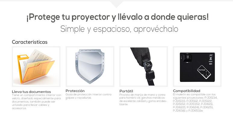 ViewSonic-maletin-protector-para proyector-orginal-caracteristicas