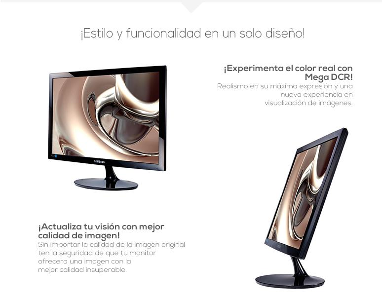 samsung-monitor-pantalla-s19d300-ergonomica-retroiluminacion led-5ms de respuesta-temposizador de apagado-fotos