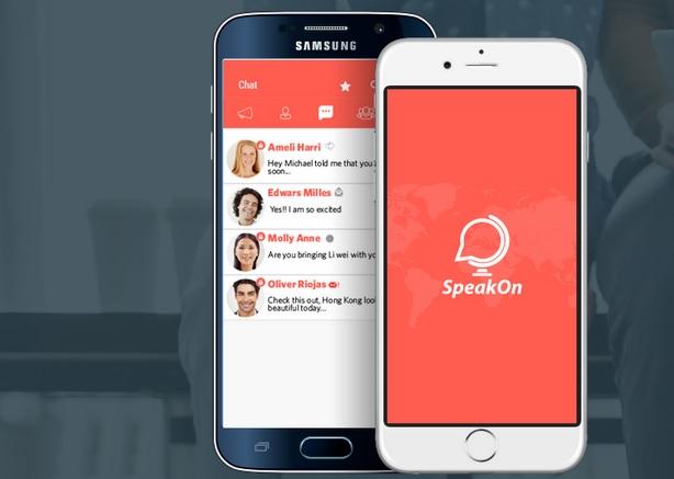 Speak On mensajería móvil
