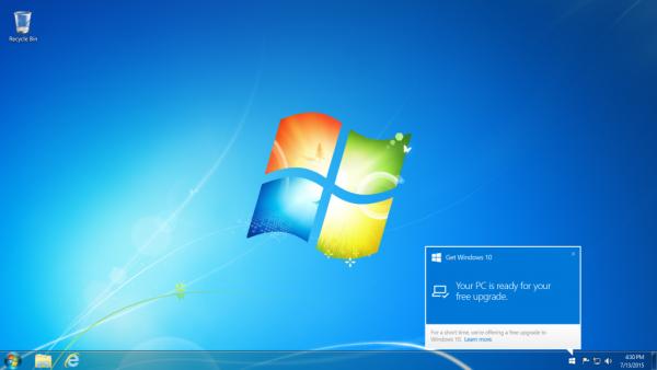 Así aparecerá una ventana en tu escritorio cuando tu descarga esté disponible.